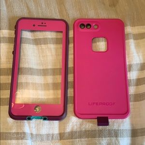 Pink life proof case iPhone 6/7/8 plus